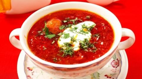 Classic Ukrainian Borsht Ukraine National Cuisine Recipes Pictures